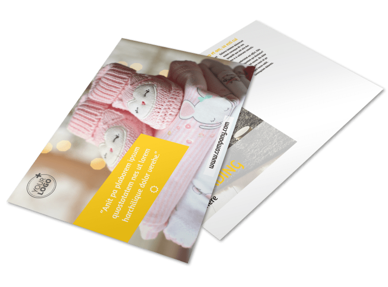 Baby Store Postcard Template Preview 1