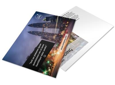 Architecture & Design Postcard Template preview