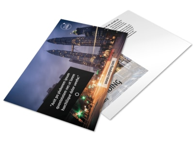 Architecture & Design Postcard Template preview