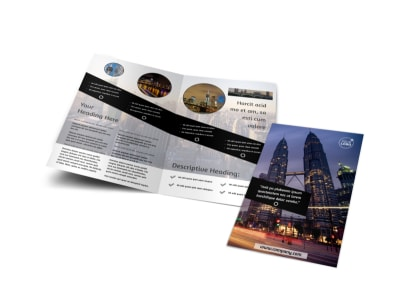 Architecture & Design Bi-Fold Brochure Template preview