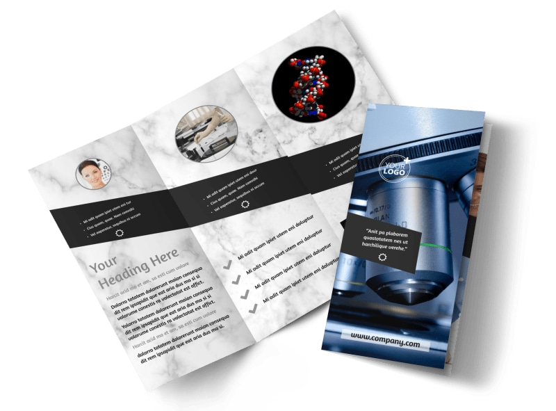 Advanced medical technology brochure template mycreativeshop for Technology brochure templates