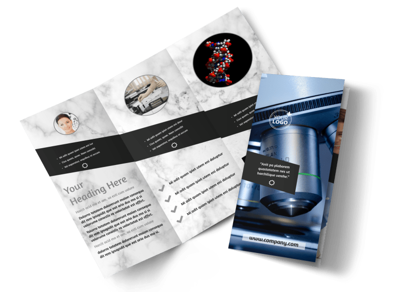 Advanced Medical Technology Brochure Template Preview 1