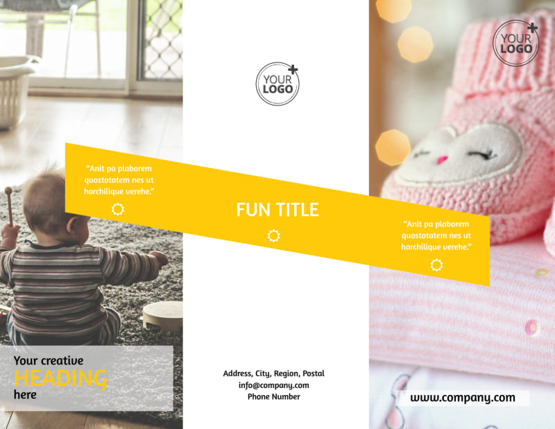 Baby Store Brochure Template Preview 2