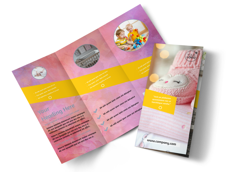 Baby Store Brochure Template Preview 1
