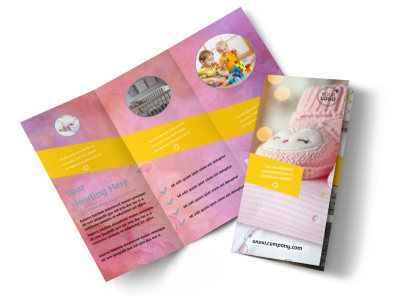Baby Store Tri-Fold Brochure Template preview