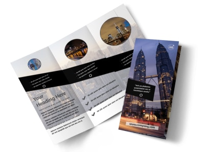 Architecture & Design Tri-Fold Brochure Template preview