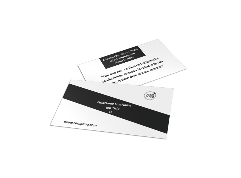 Advanced Medical Technology Business Card Template Preview 1