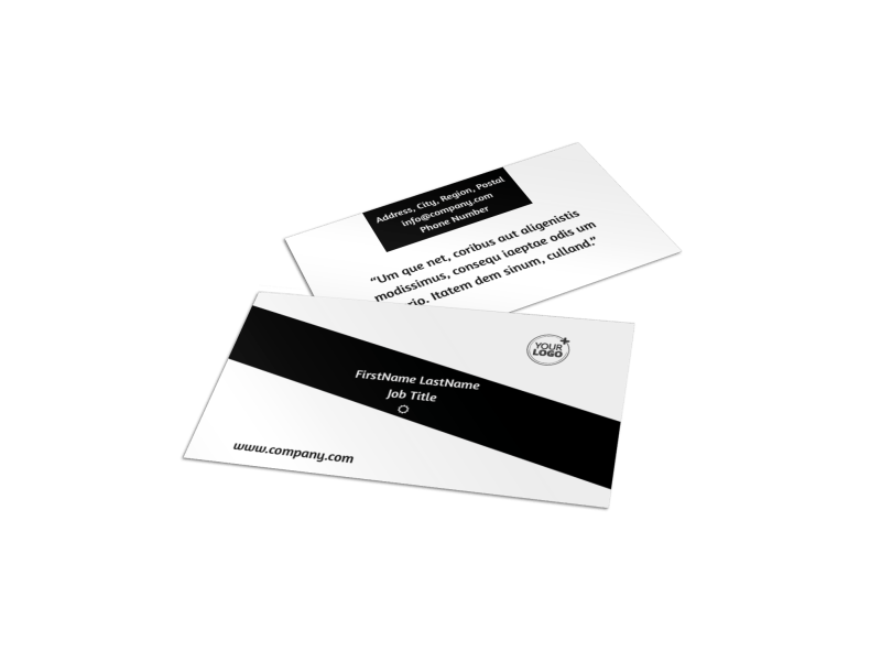 Architecture & Design Business Card Template Preview 1
