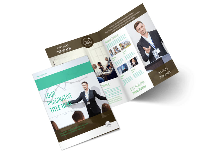 Real Estate Conference Bi-Fold Brochure Template 2