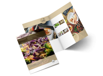 Asian Restaurant Bi-Fold Brochure Template 2
