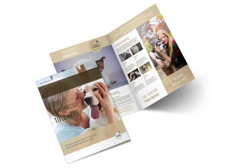 Pet Rescue Bi-Fold Brochure Template 2