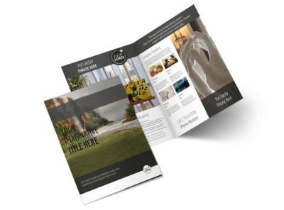 Art Exhibit Bi-Fold Brochure Template 2