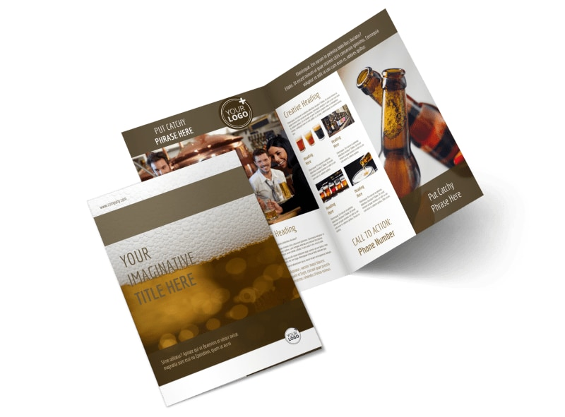Brew Pub - Beer List Bi-Fold Brochure Template 2