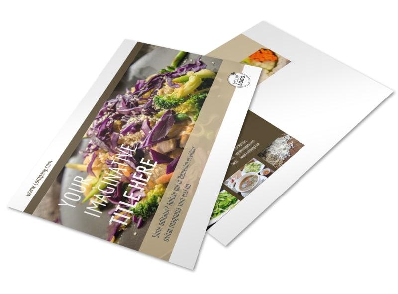 Asian Restaurant Postcard Template Preview 4