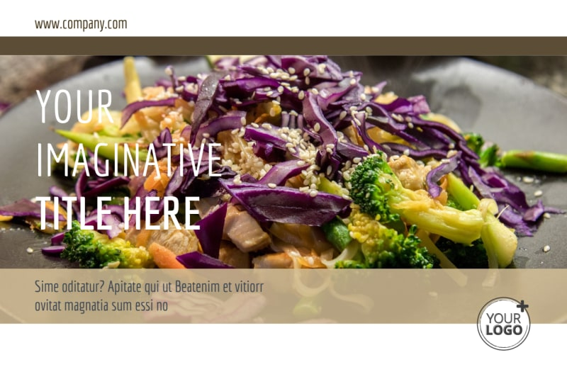 Asian Restaurant Postcard Template Preview 2