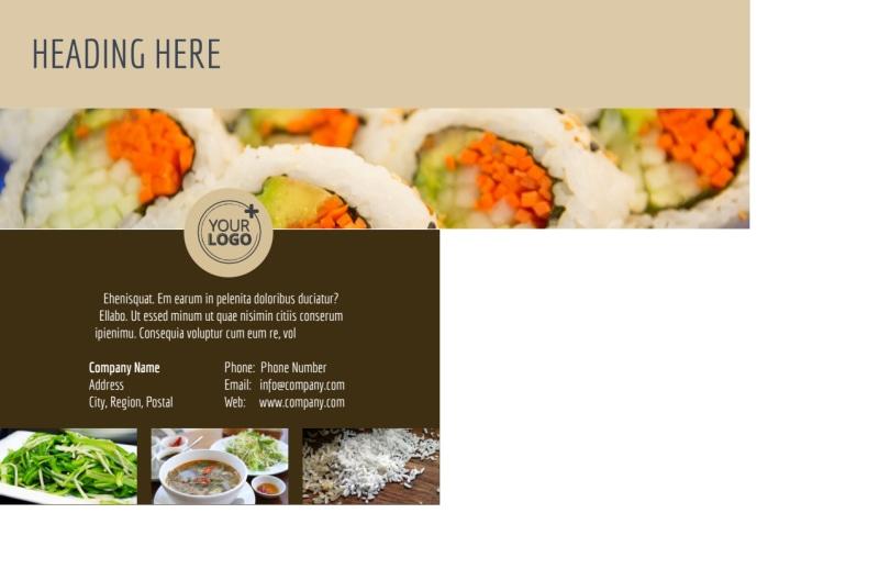 Asian Restaurant Postcard Template Preview 3