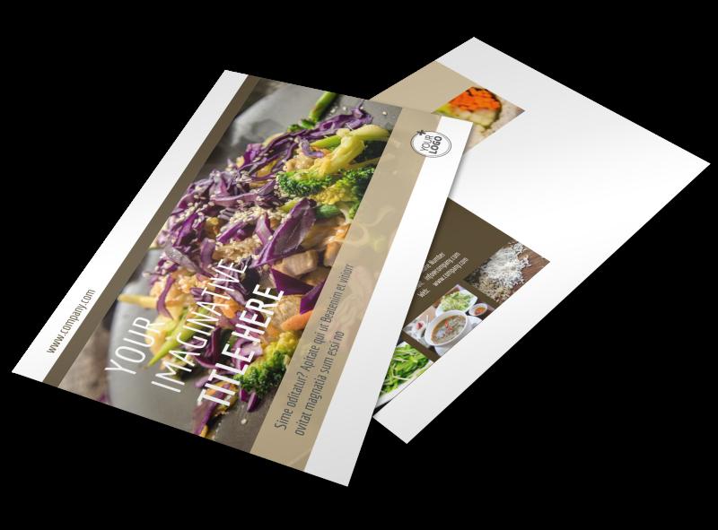 Asian Restaurant Postcard Template Preview 1