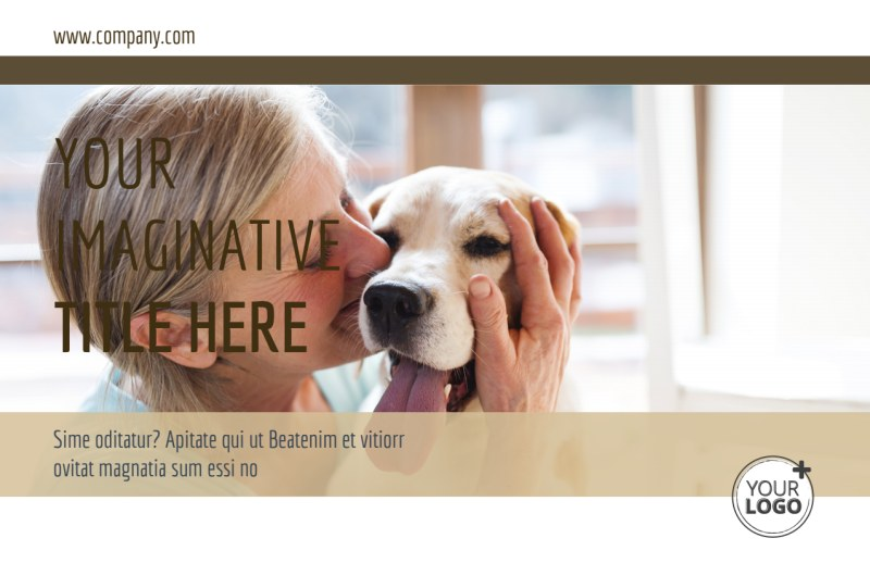 Pet Rescue Postcard Template Preview 2