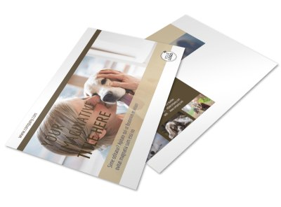 Pet Rescue Postcard Template preview