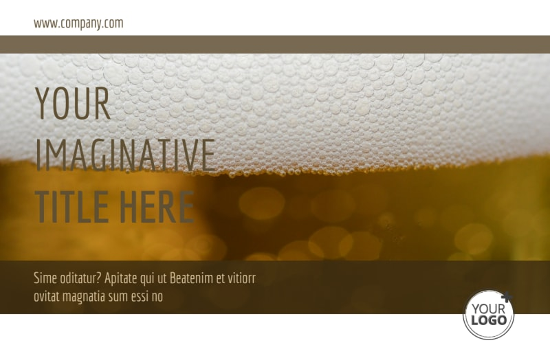 Brew Pub - Beer List Postcard Template Preview 2
