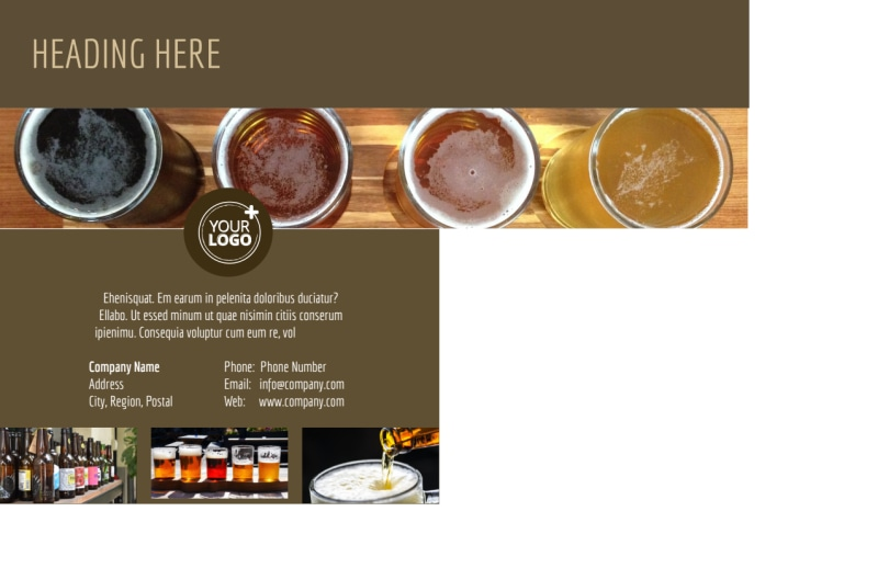 Brew Pub - Beer List Postcard Template Preview 3