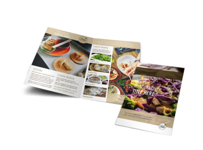 Asian Restaurant Bi-Fold Brochure Template