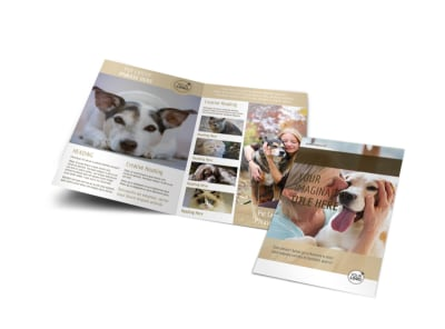 Pet Rescue Bi-Fold Brochure Template