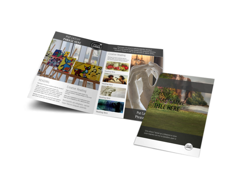 Art Exhibit Bi-Fold Brochure Template