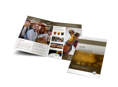 Brew Pub - Beer List Bi-Fold Brochure Template