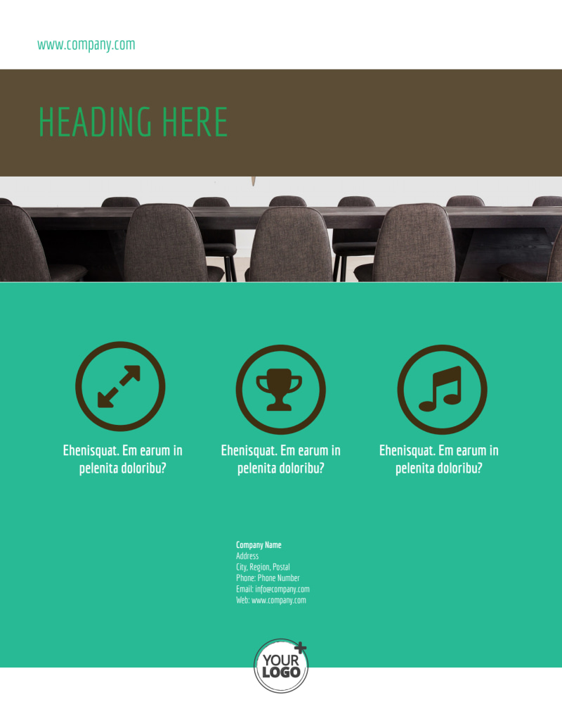 Real Estate Conference Flyer Template Preview 3
