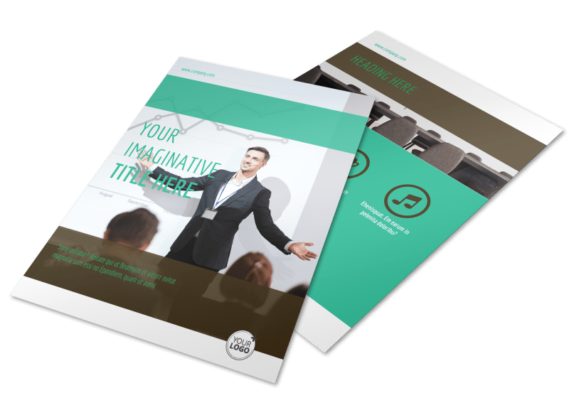 Real Estate Conference Flyer Template Preview 1