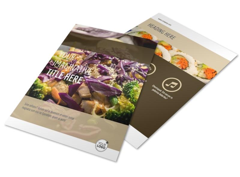 asian restaurant flyer template
