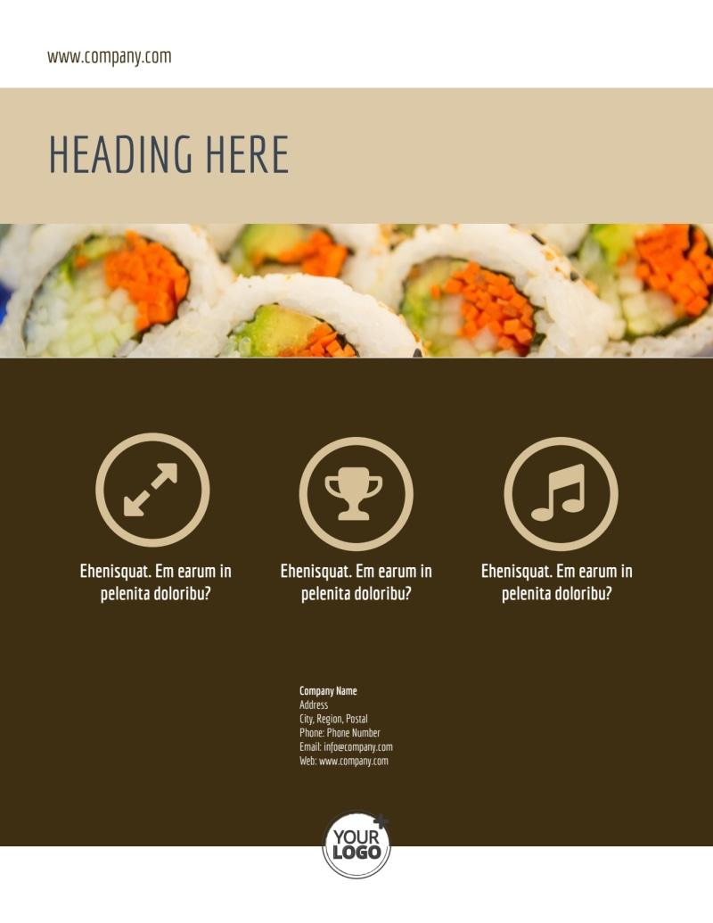 Asian Restaurant Flyer Template Preview 3