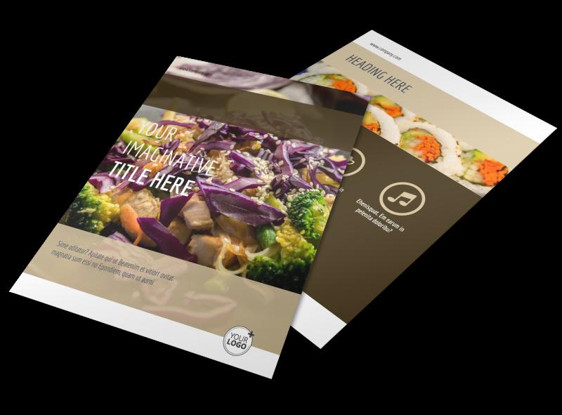 Asian Restaurant Flyer Template Preview 1