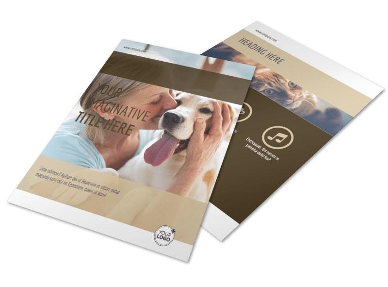 Pet Rescue Flyer Template