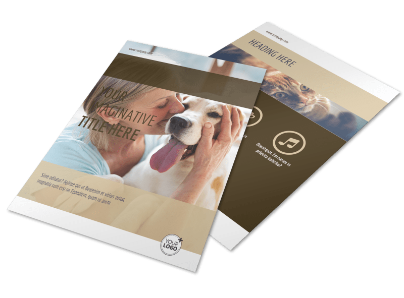 Pet Rescue Flyer Template Preview 1