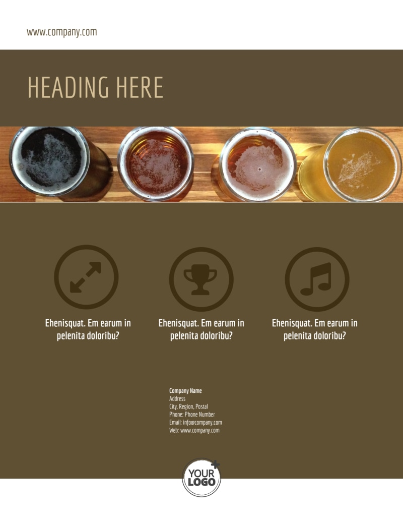 Brew Pub - Beer List Flyer Template Preview 3