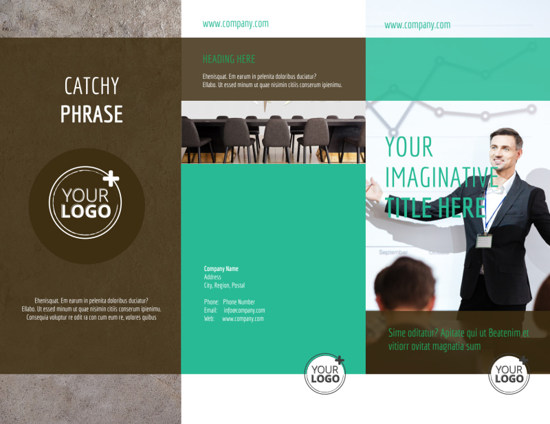 Real Estate Conference Brochure Template Preview 2