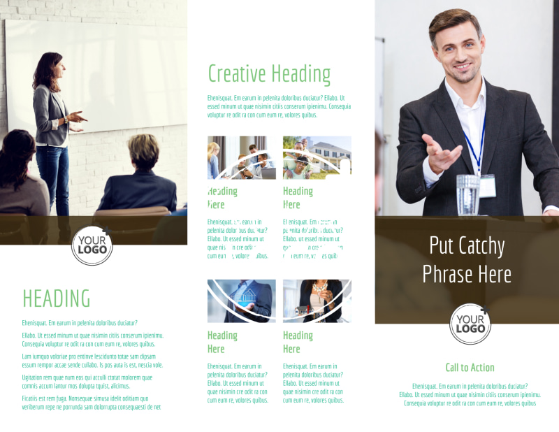 Real Estate Conference Brochure Template Preview 3