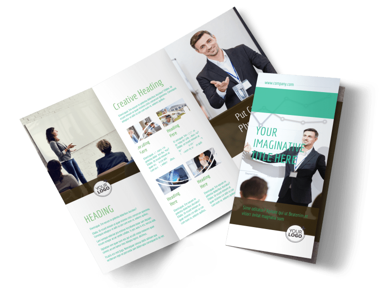 Real Estate Conference Brochure Template Preview 1