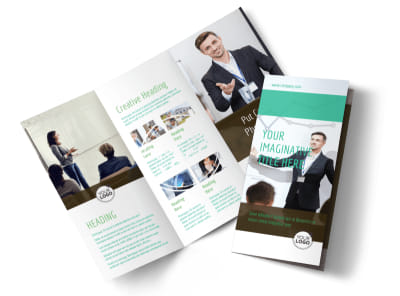 Real Estate Conference Tri-Fold Brochure Template