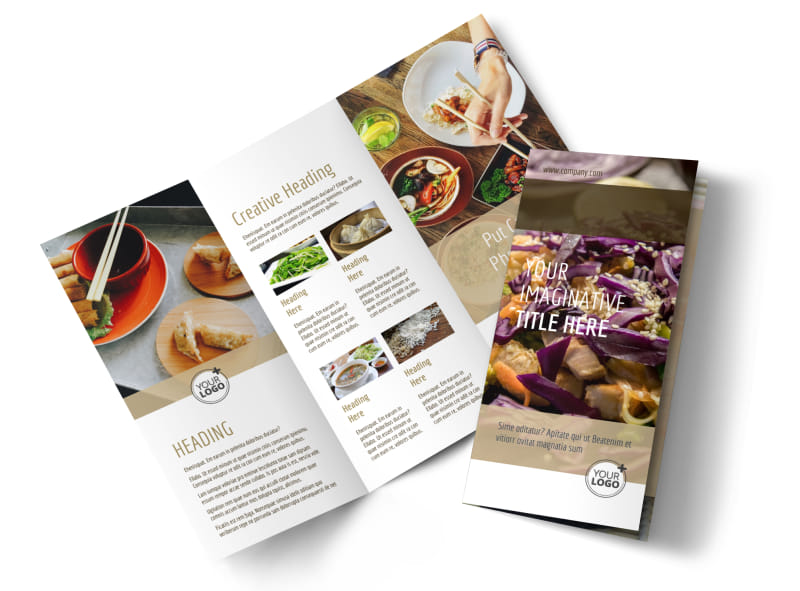 Asian Restaurant Brochure Template  Mycreativeshop