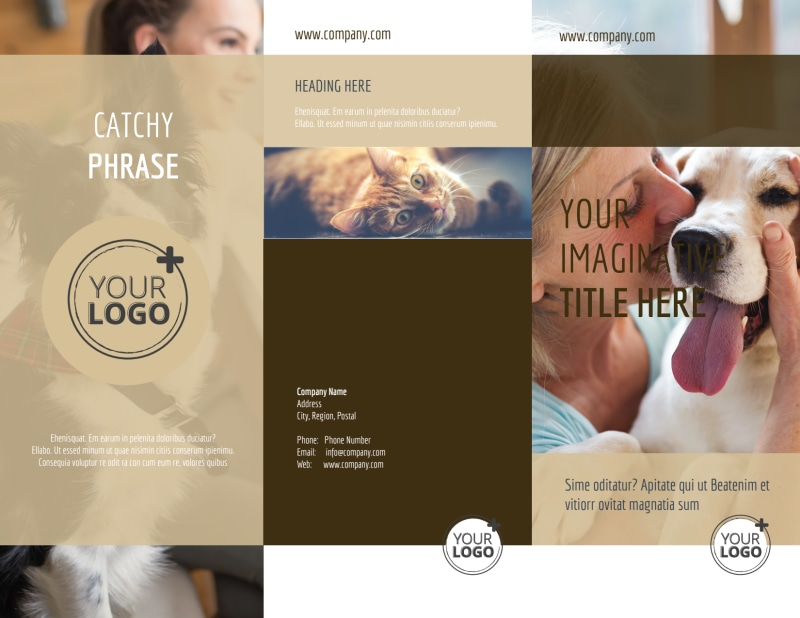 Pet Rescue Brochure Template Preview 2