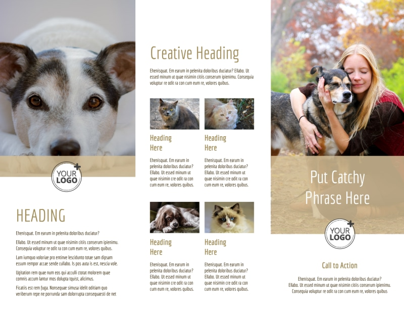 Pet Rescue Brochure Template Preview 3
