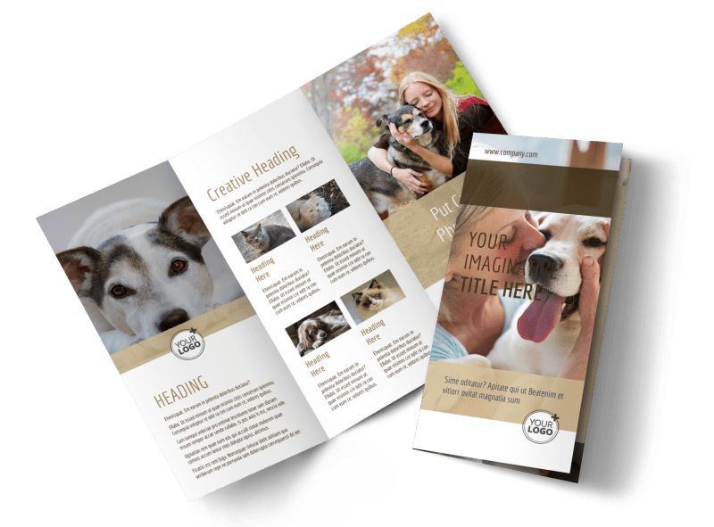Pet Rescue Brochure Template Preview 1