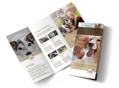 Pet Rescue Tri-Fold Brochure Template