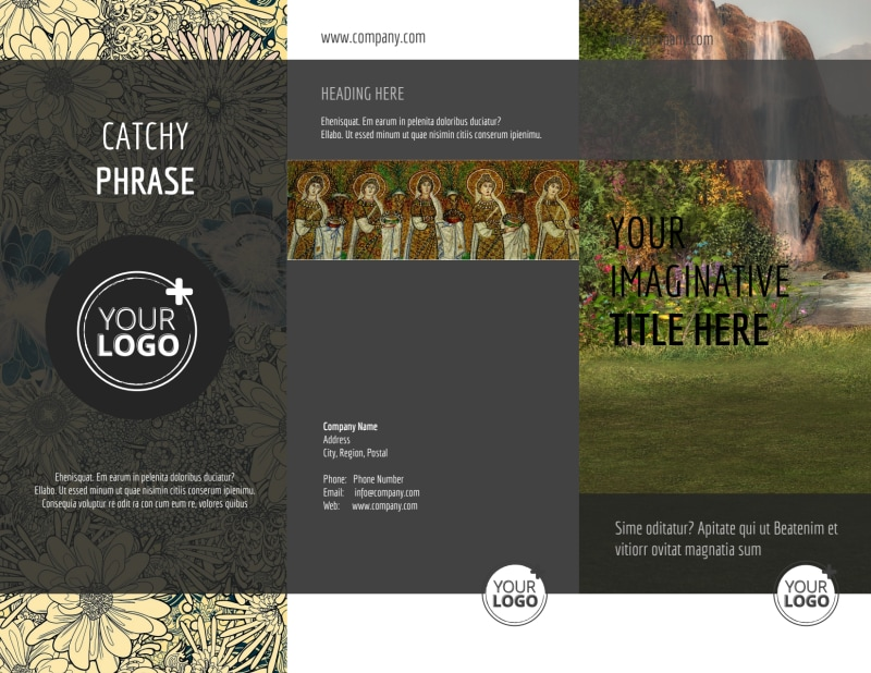 Art Exhibit Brochure Template Preview 2