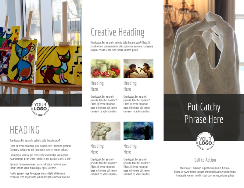 Art Exhibit Brochure Template Preview 3