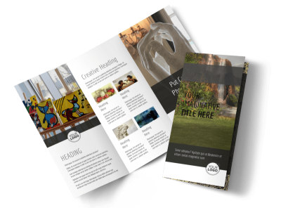 Art Exhibit Tri-Fold Brochure Template