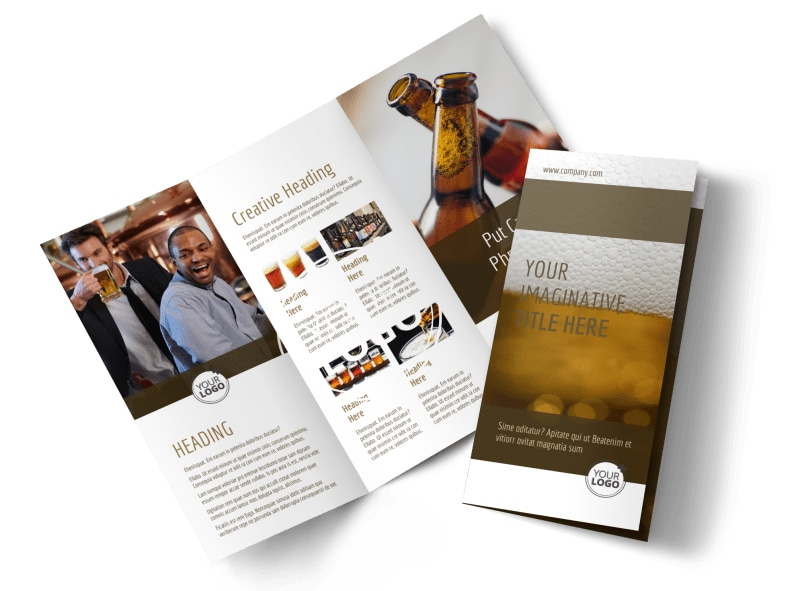 Brew Pub - Beer List Brochure Template Preview 4